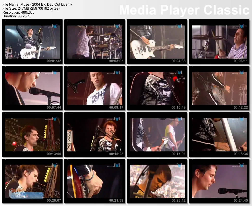FREE MOVIE HOTFILE: Muse - Live Big_Day_Out_2004
