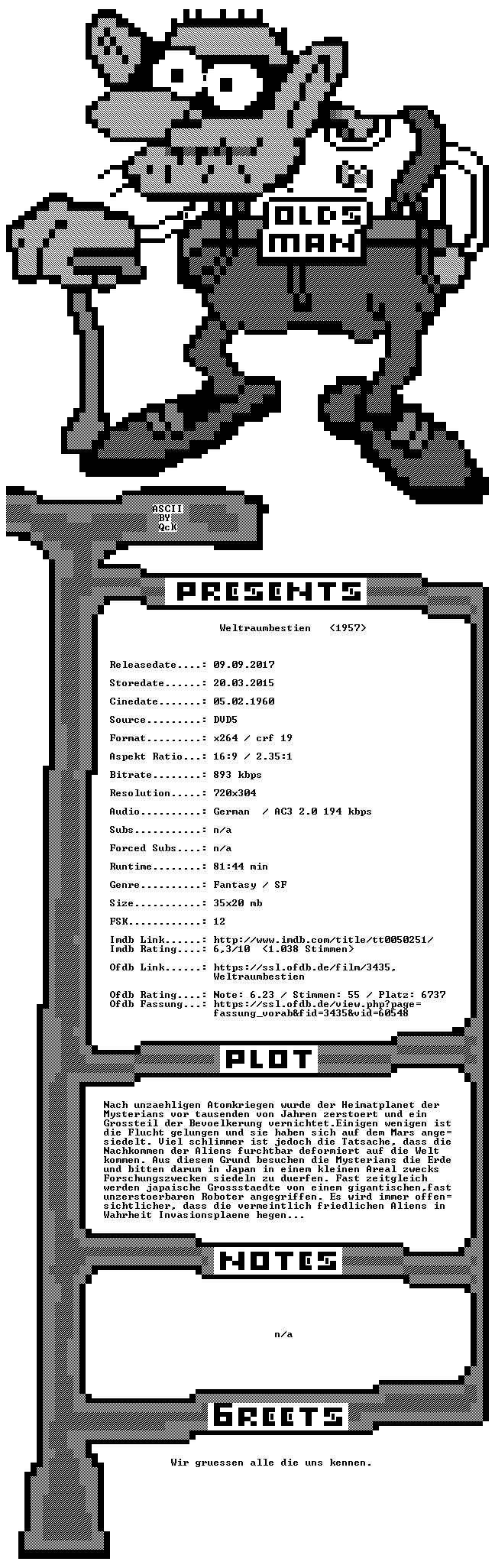 Weltraumbestien GERMAN 1957 DVDRip x264-OldsMan