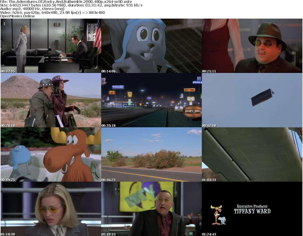 The Adventures Of Rocky And Bullwinkle 2000 480p x264-mSD