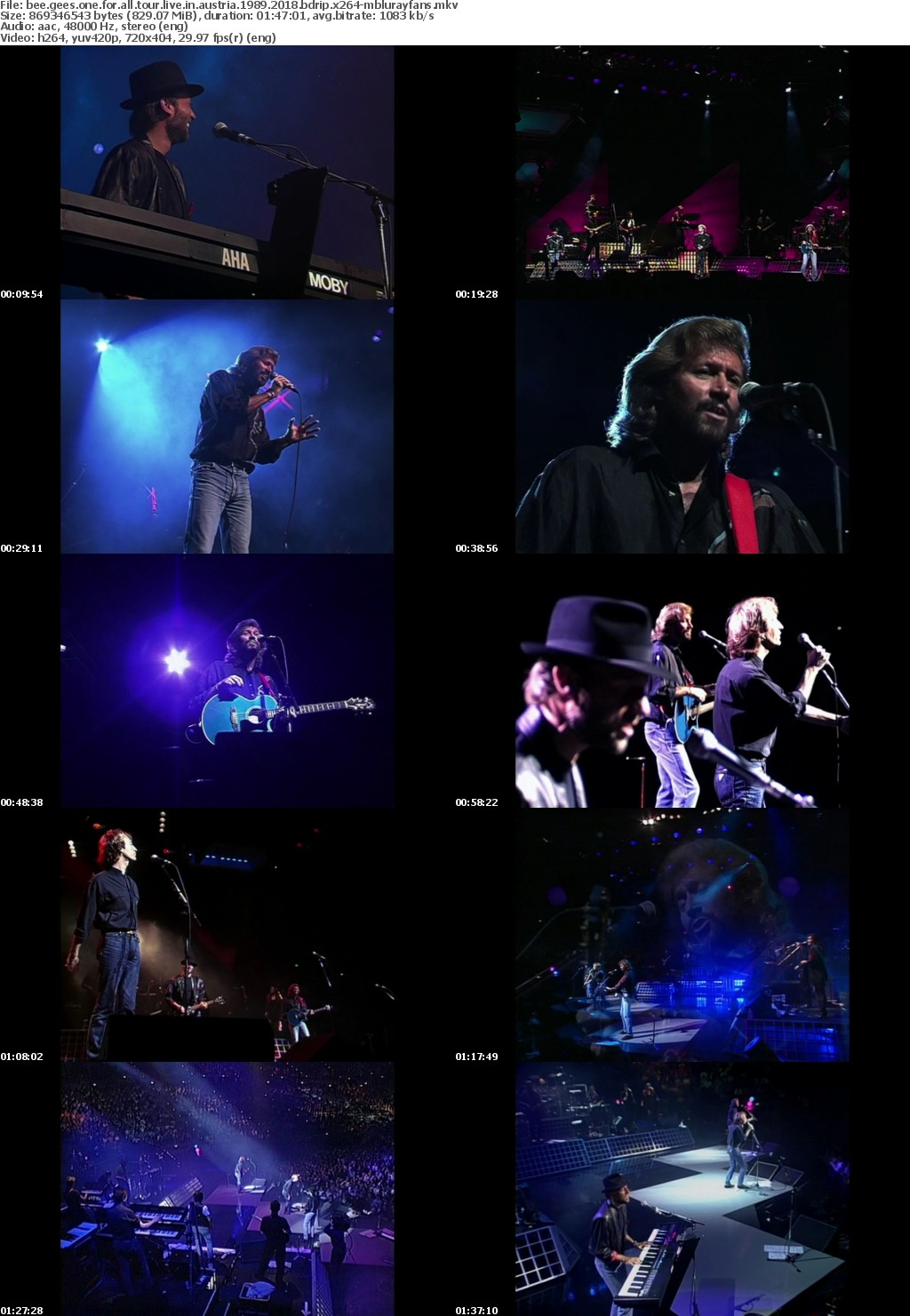 Bee Gees One For All Tour Live In Australia 1989 2018 BDRip x264-MBLURAYFANS