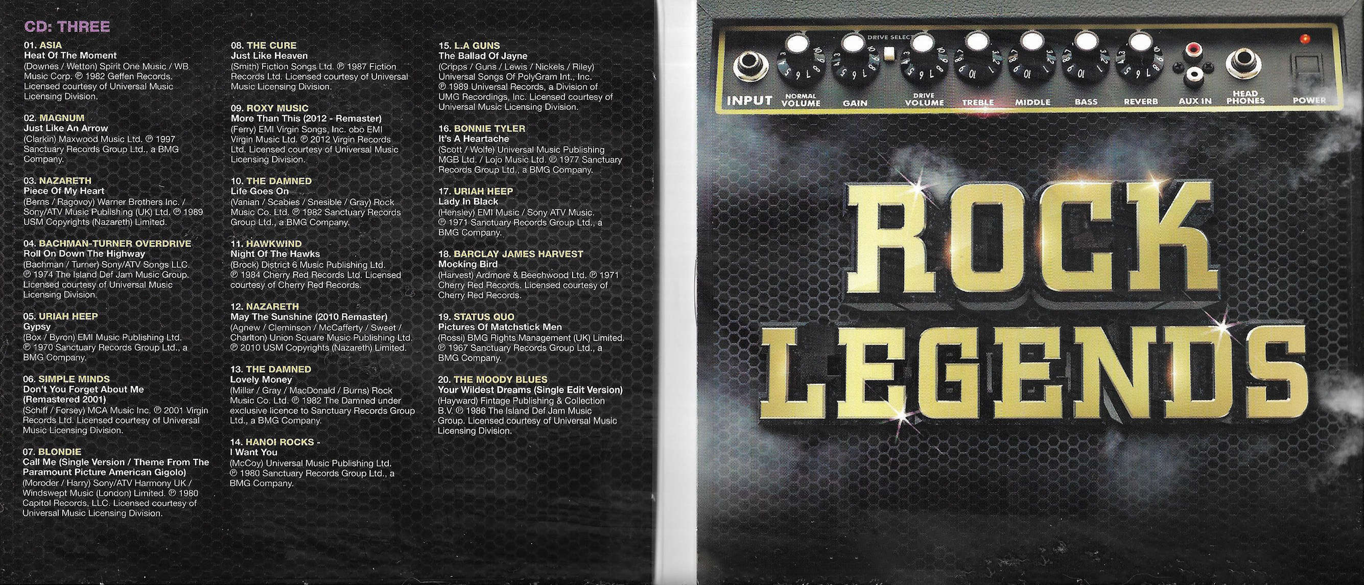 VA - Rock Legends The Ultimate Collection [5CD] (2018)