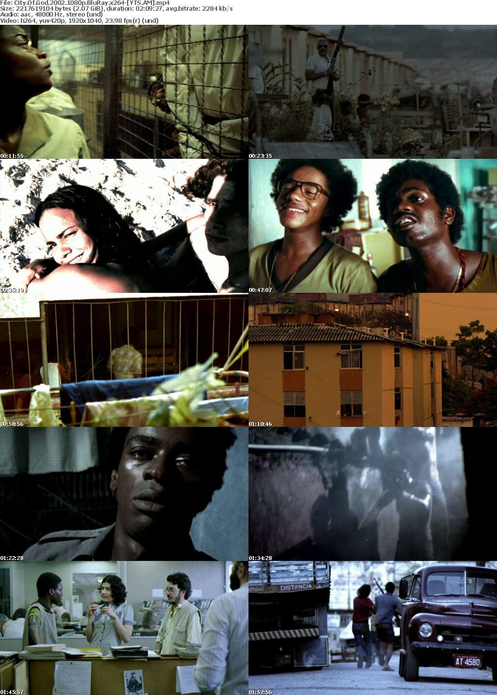 city of god 2002 represents violence and City of god was screened at the 2002 cannes film festival the scenery is gritty and yet evocative of a cultural heritage somewhat trampled and yet thriving through the constant theme of violence and cyclical gang warfare we have a huge host of characters, but each of them is memorable and complex.