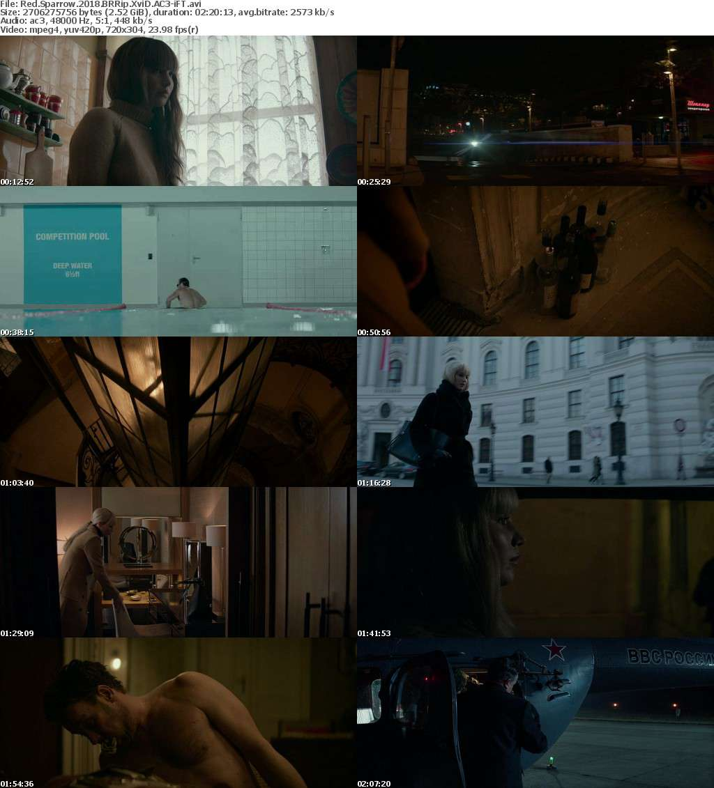 Red Sparrow 2018 BRRip XviD AC3-iFT