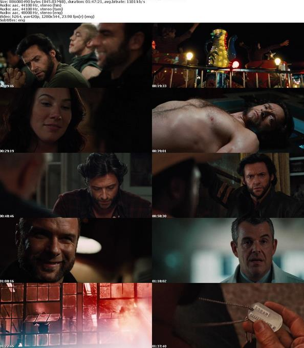 X-Men Origins Wolverine (2009) 720p BDRip [Hindi+Tamil+Eng]-MovCr