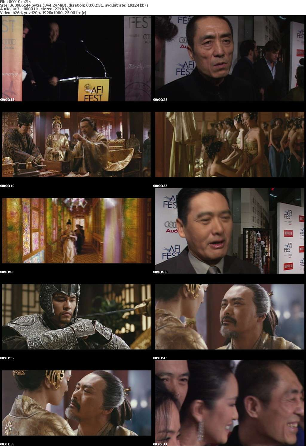 Curse Of The Golden Flower 2006 1080p FRA Blu-ray AVC DTS-HD MA 5 1