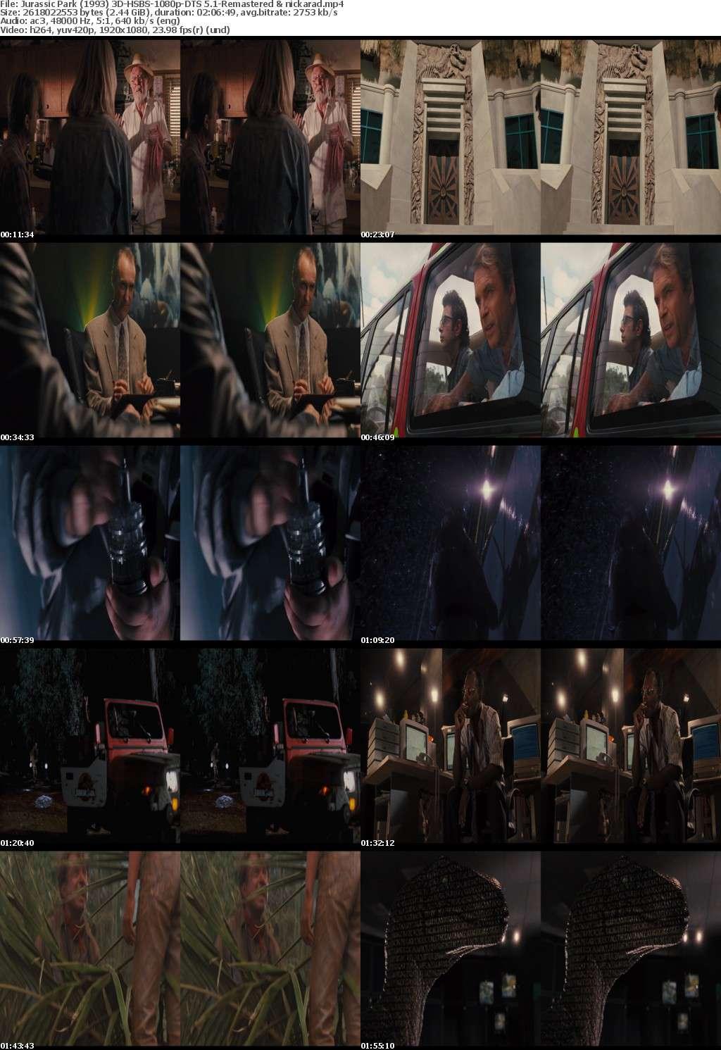 Jurassic Park (1993) 3D HSBS 1080p BluRay AC3 (DTS 5.1) Remastered-nickarad