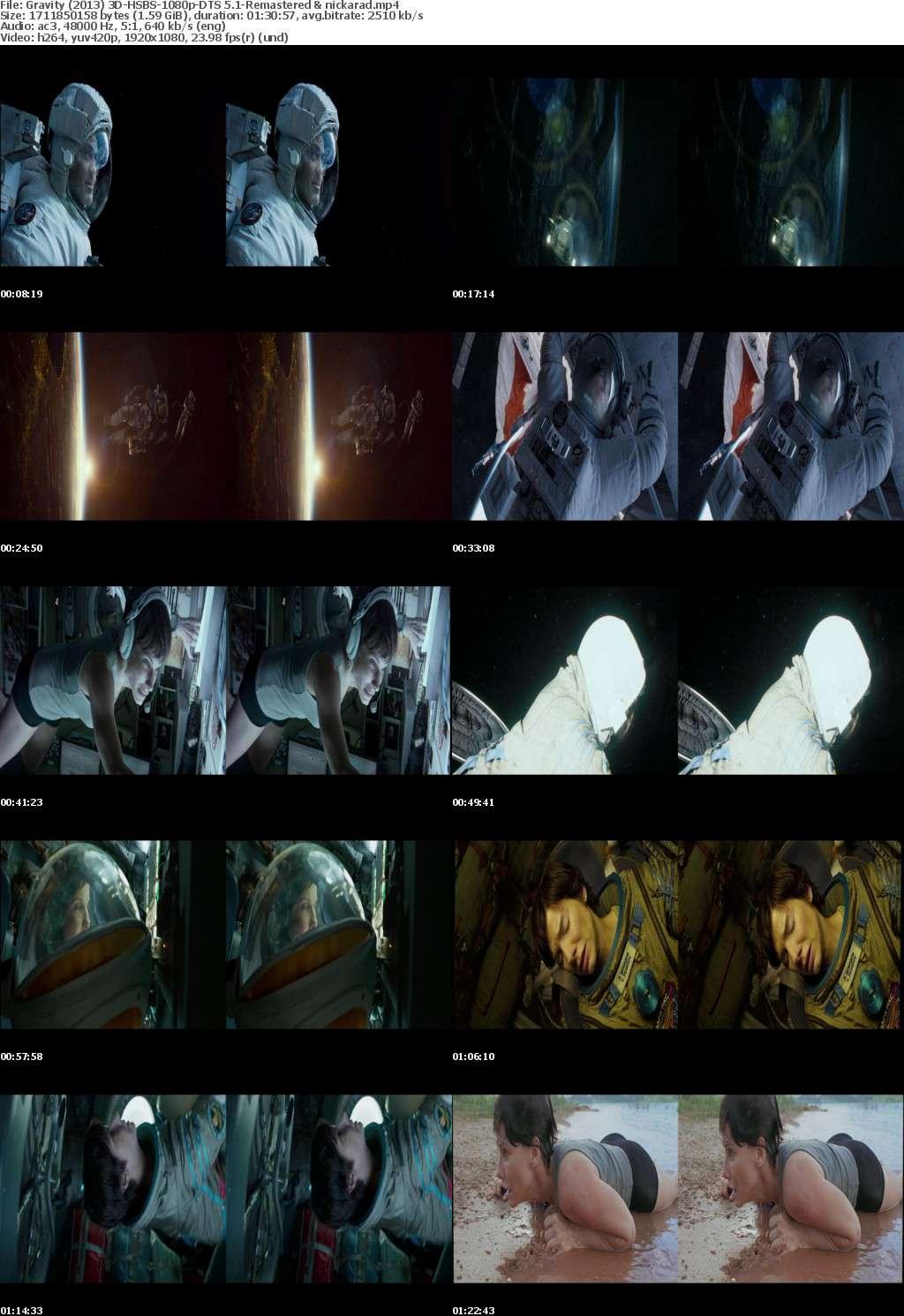 Gravity (2013) 3D HSBS 1080p BluRay AC3 (DTS 5.1)-Remastered-nickarad