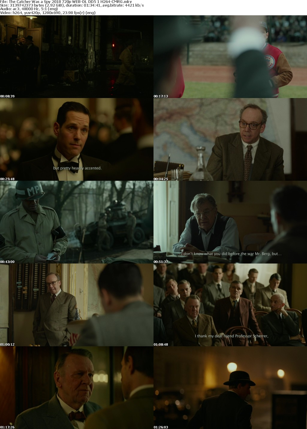 The Catcher Was a Spy 2018 720p WEB-DL DD5 1 H264-CMRG