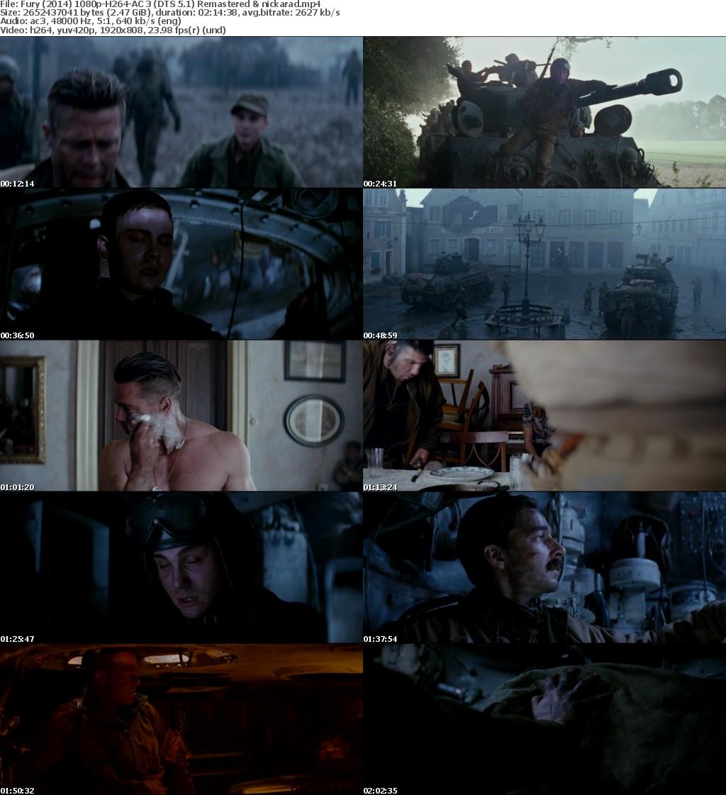 Fury (2014) 1080p BluRay H264 AC 3 Remastered-nickarad