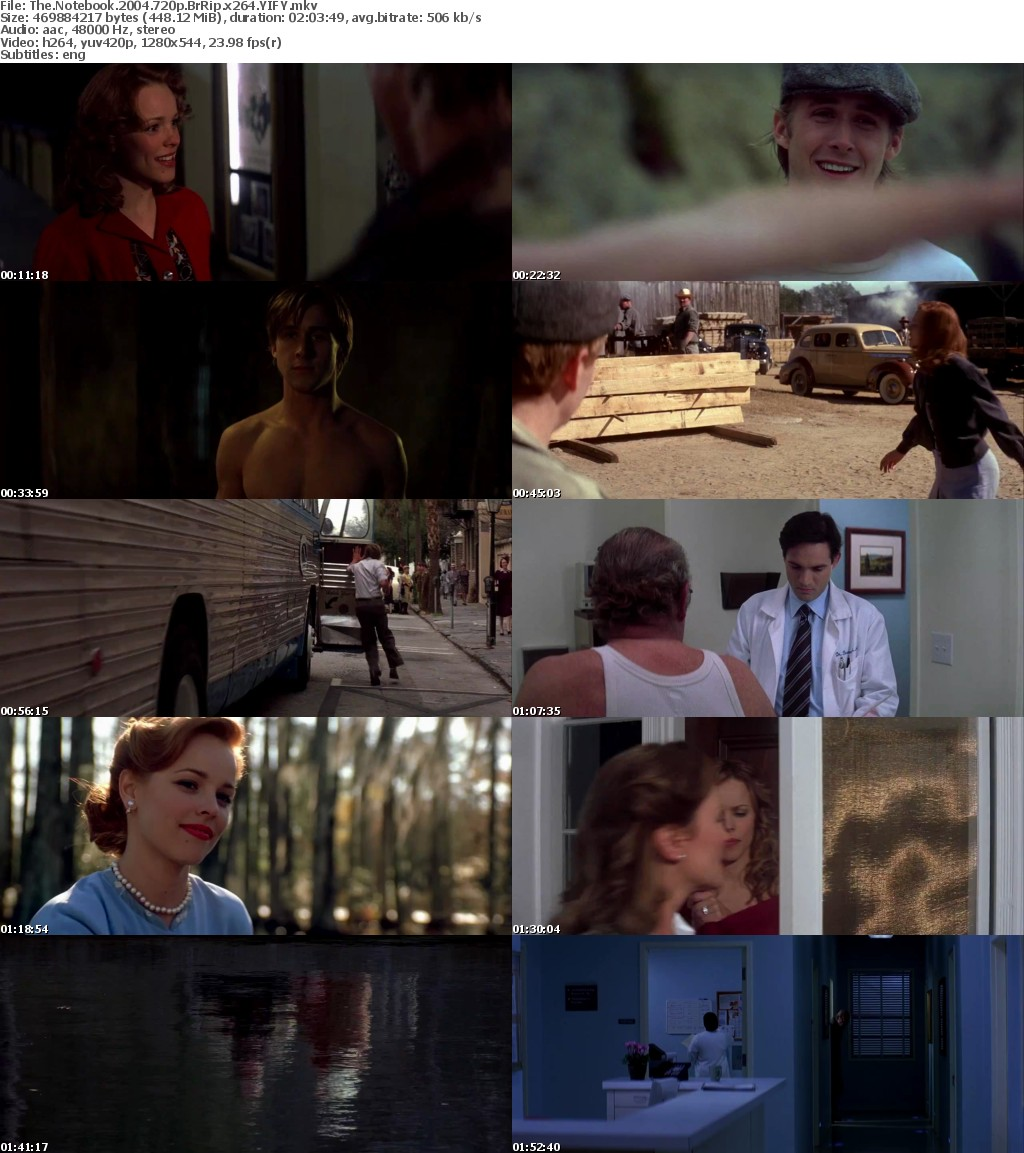 The Notebook (2004) [BluRay] [720p] YIFY