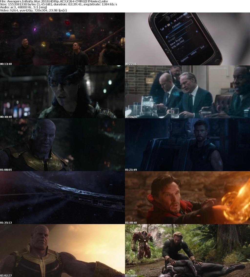 Avengers Infinity War 2018 HDRip AC3 X264-CMRG[EtMovies]