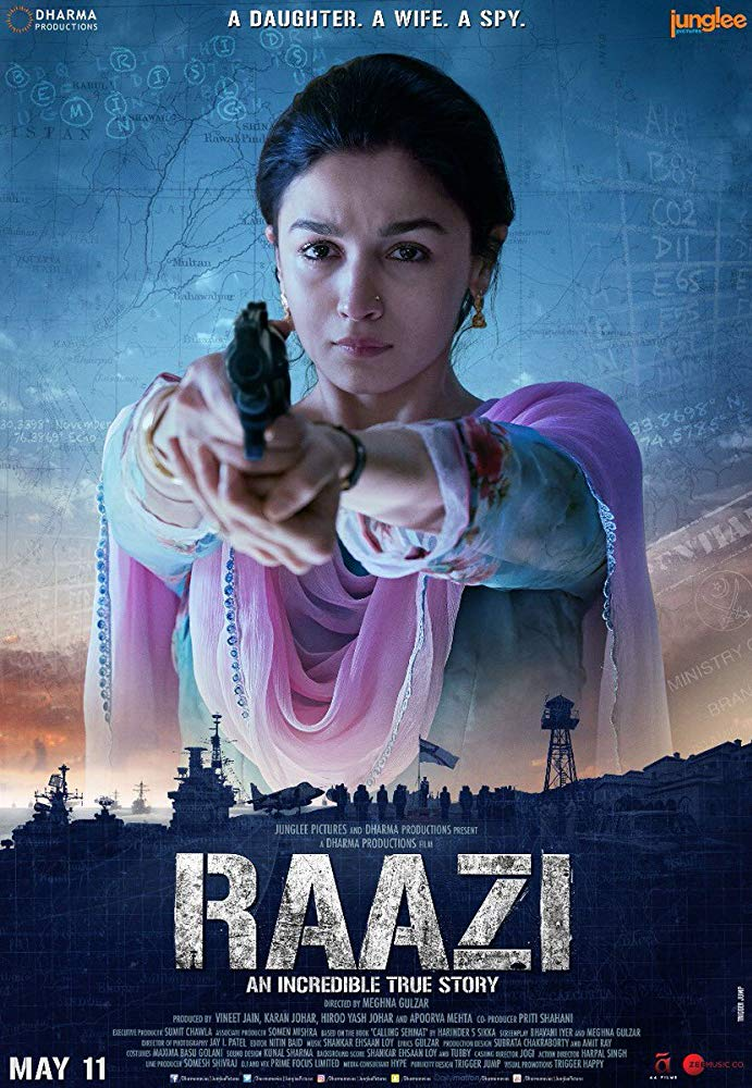 Raazi 2018 Hindi 720p BluRay DD 5 1 x264 ESub [MW]