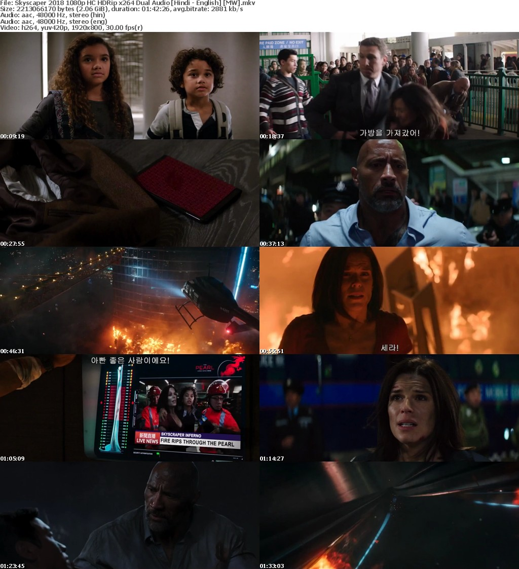 Skyscaper 2018 1080p HC HDRip x264 Dual Audio Hindi - English MW