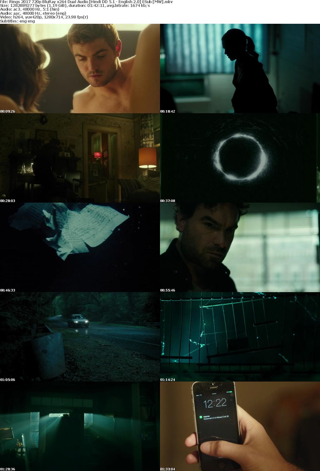 Rings (2017) 720p BluRay x264 Dual Audio Hindi DD 5.1 - English 2.0 ESub MW