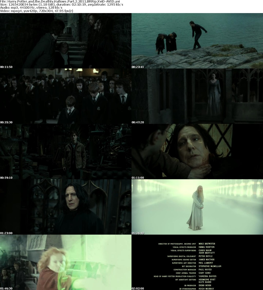 Harry Potter and the Deathly Hallows Part 2 2011 BRRip XviD-AVID