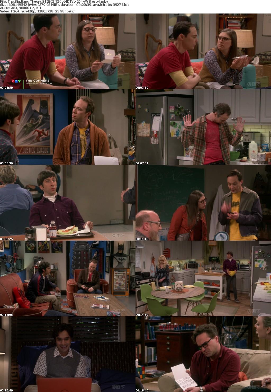 The Big Bang Theory S12E02 720p HDTV x264-AVS