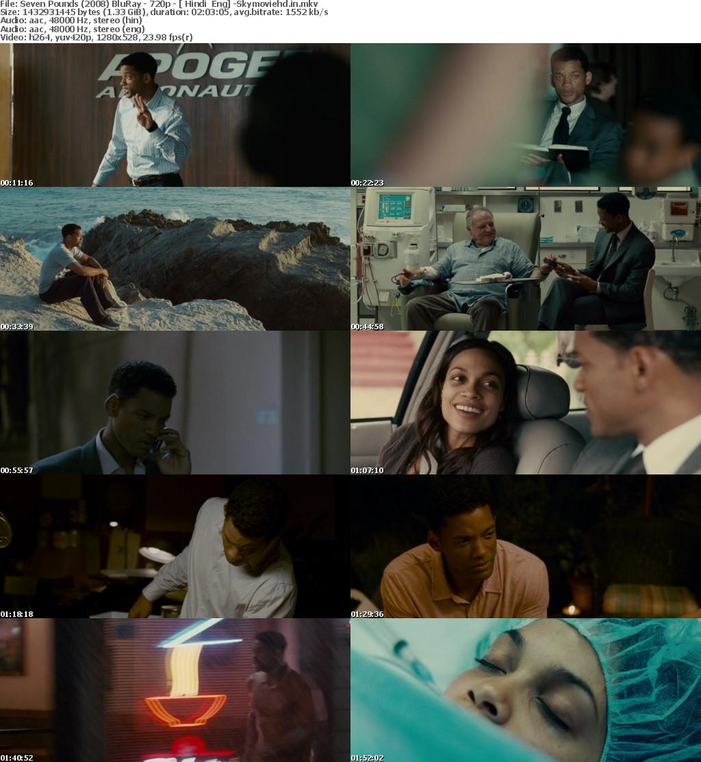 Seven Pounds (2008) BluRay x264 Dual Audio Hindi - English 1 3GB -SM