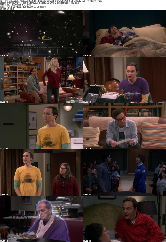 The Big Bang Theory S12E05 The Planetarium Collision 720p WEB-DL DD5 1 H 264-YFN