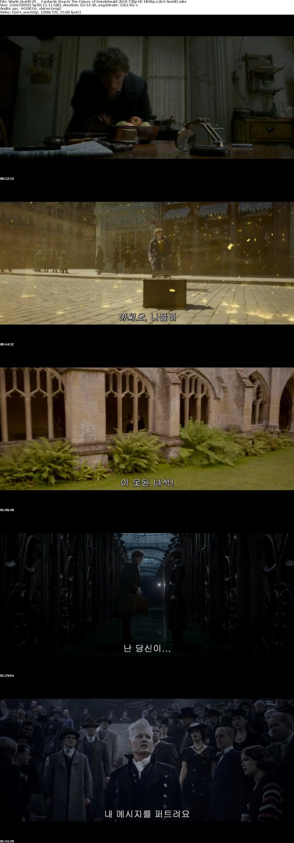Fantastic Beasts The Crimes of Grindelwald 2018 720p HC HDRip x264-SeeHD[TGx]