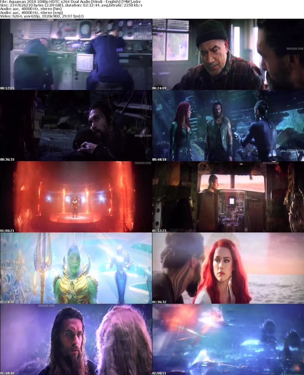 Aquaman (2018) 1080p HDTC x264 Dual Audio Hindi - English MW