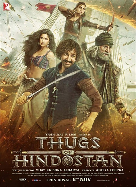 Thugs of Hindostan (2018) Hindi Proper WEB-DL - 720p- AVC - DD+5 1 (640Kbps) - 3 7GB - MSub MOVCR