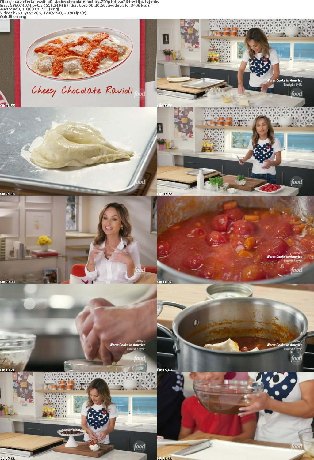 Giada Entertains S04E04 Jades Chocolate Factory 720p HDTV x264-W4F