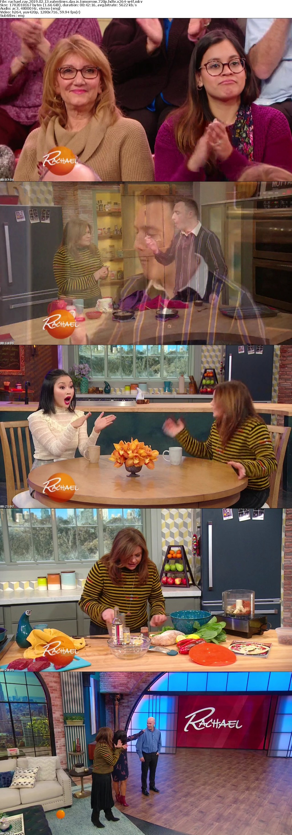 Rachael Ray 2019 02 13 Valentines Day is Tomorrow 720p HDTV x264-W4F