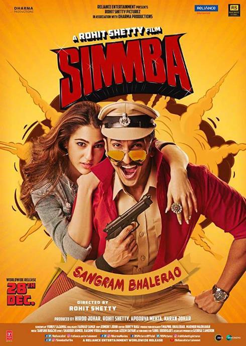Simmba (2019) Hindi 720p WEB  DL x264 AAC  LOKiHD