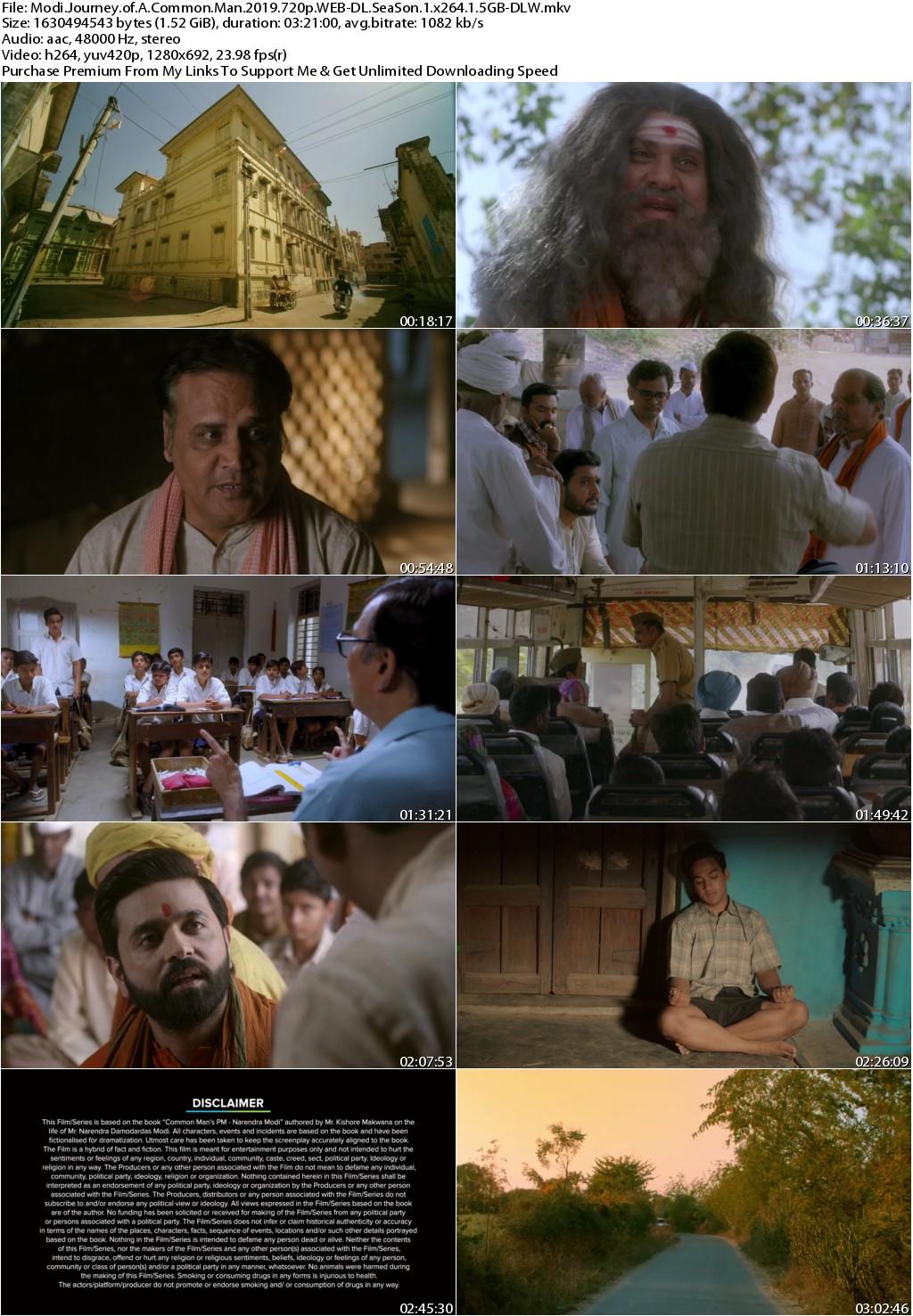 Modi Journey of A Common Man 2019 720p WEB-DL SeaSon 1 x264 1.5GB-DLW
