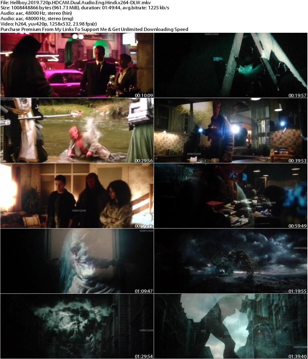 Hellboy (2019) 720p HDCAM Dual Audio Eng Hindi x264-DLW