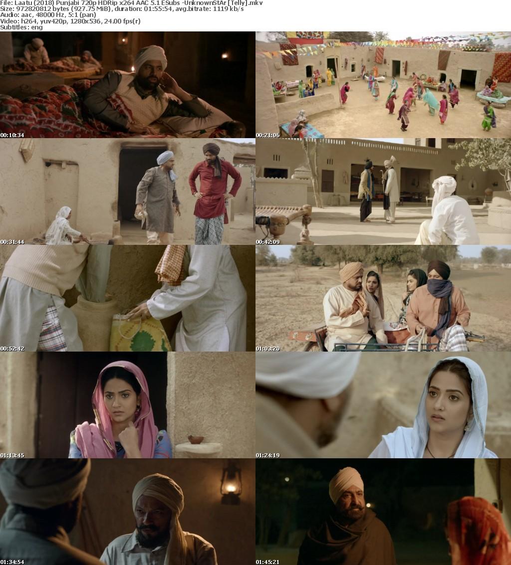 Laatu (2018) Punjabi 720p HDRip x264 AAC 5.1 ESubs -UnknownStAr Telly