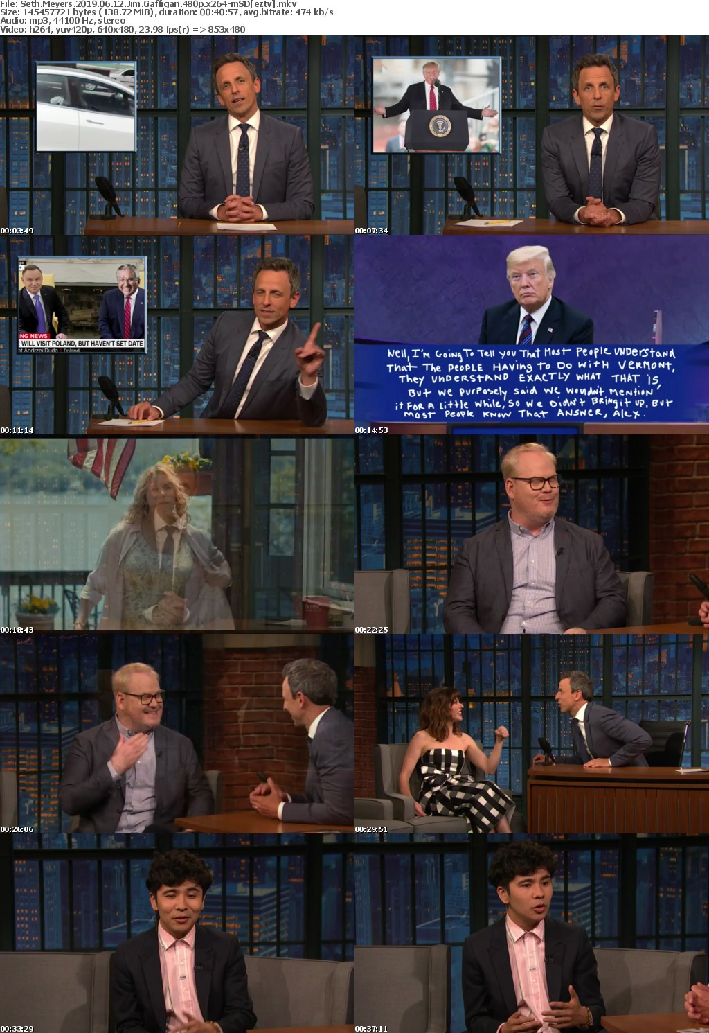 Seth Meyers 2019 06 12 Jim Gaffigan 480p x264-mSD