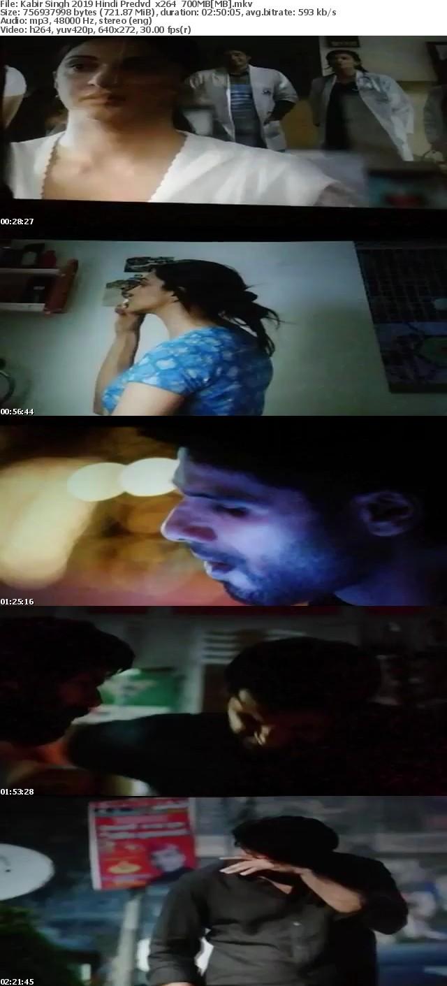 Kabir Singh 2019 Hindi Predvd x264 700MB[MB]