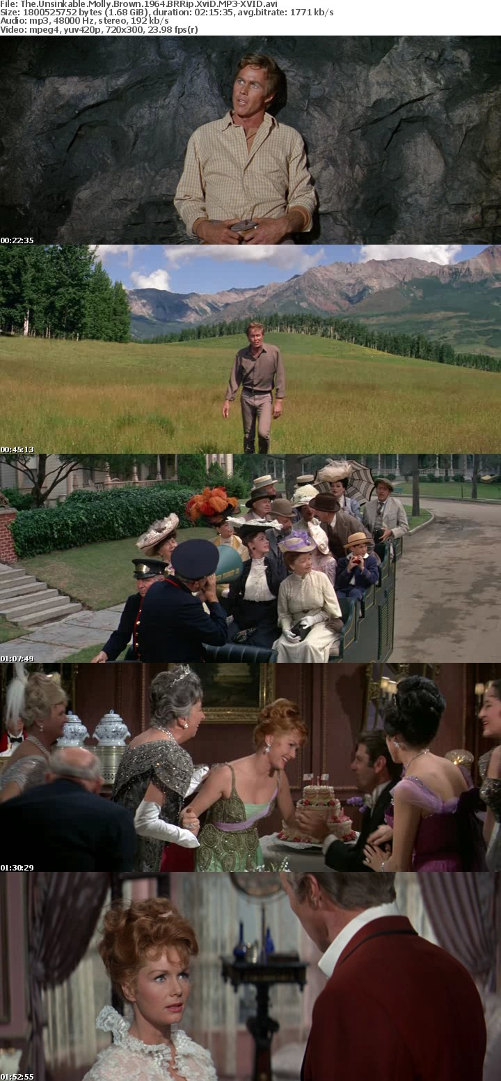 The Unsinkable Molly Brown 1964 BRRip XviD MP3-XVID