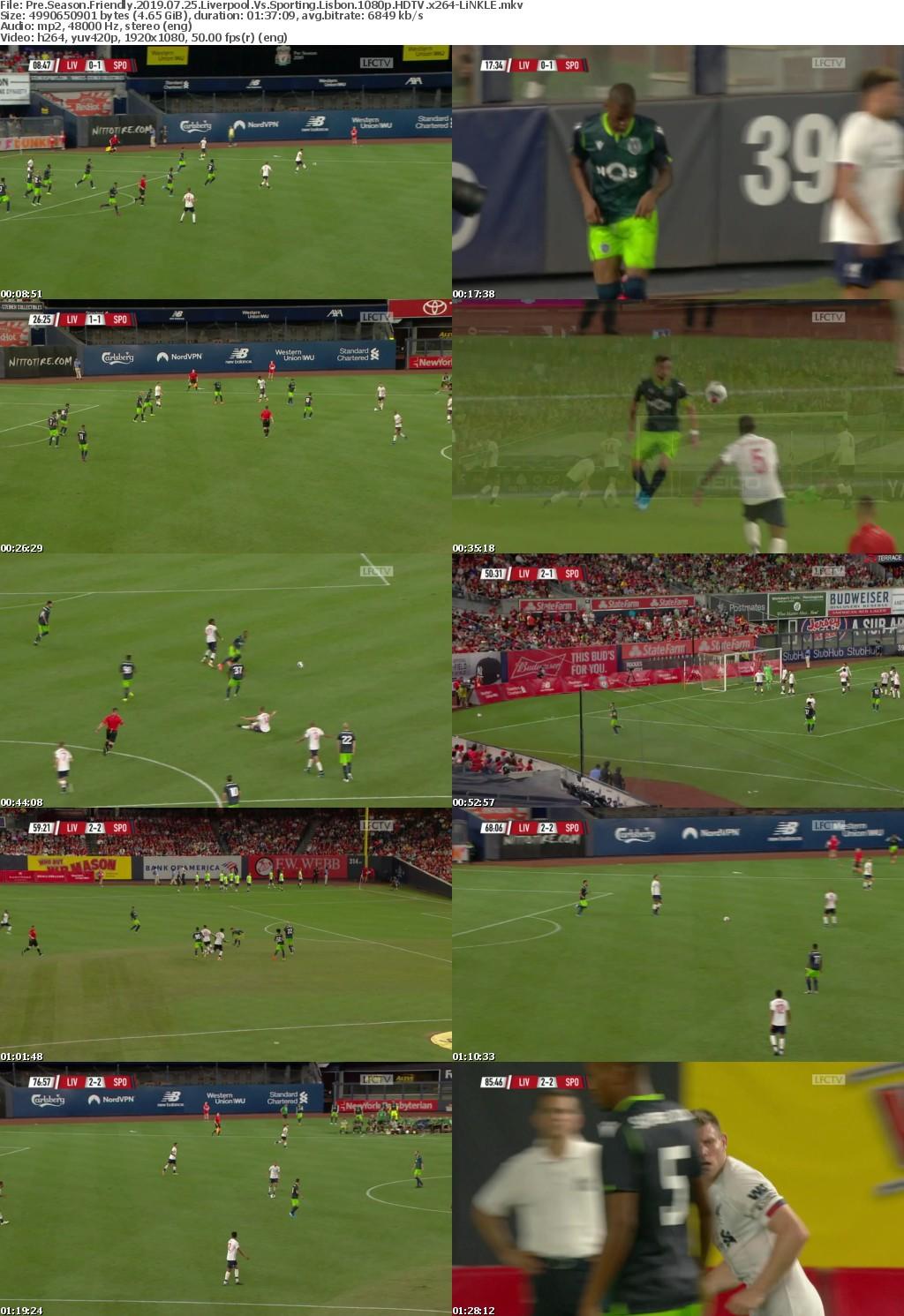 Pre Season Friendly 2019 07 25 Liverpool Vs Sporting Lisbon 1080p HDTV x264-LiNKLE