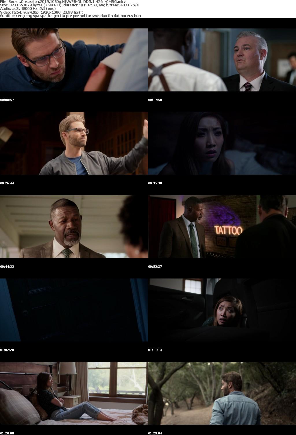 Secret Obsession (2019) 1080p NF WEB DL DD5.1 H264 CMRG
