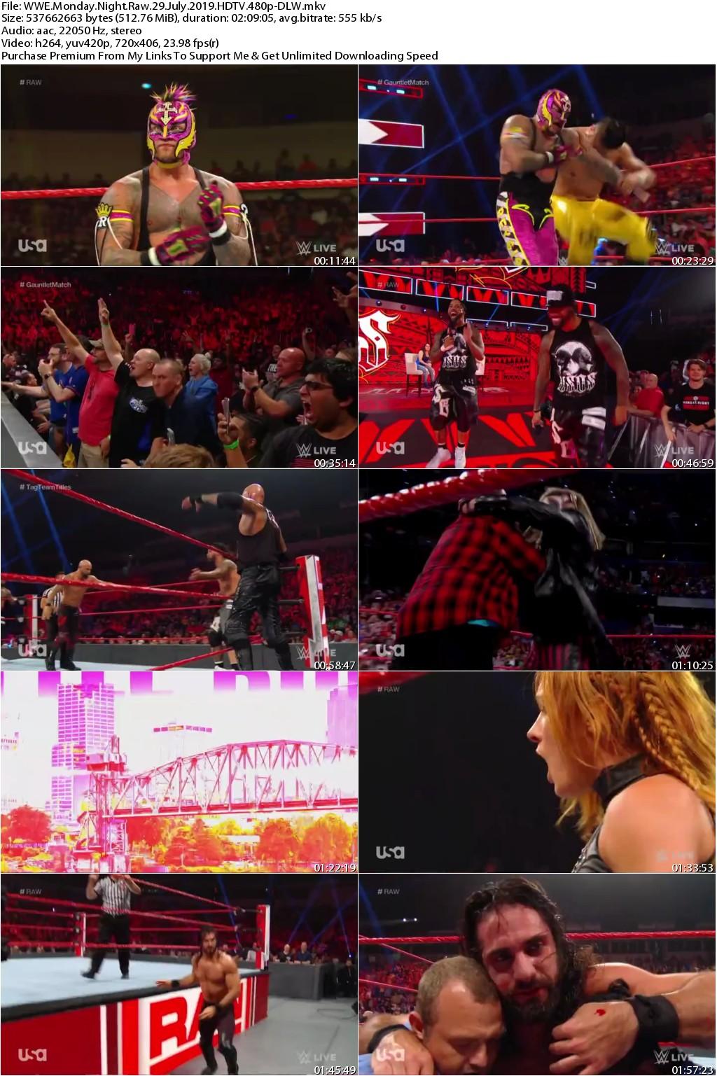WWE Monday Night Raw 29 July 2019 HDTV 480p-DLW