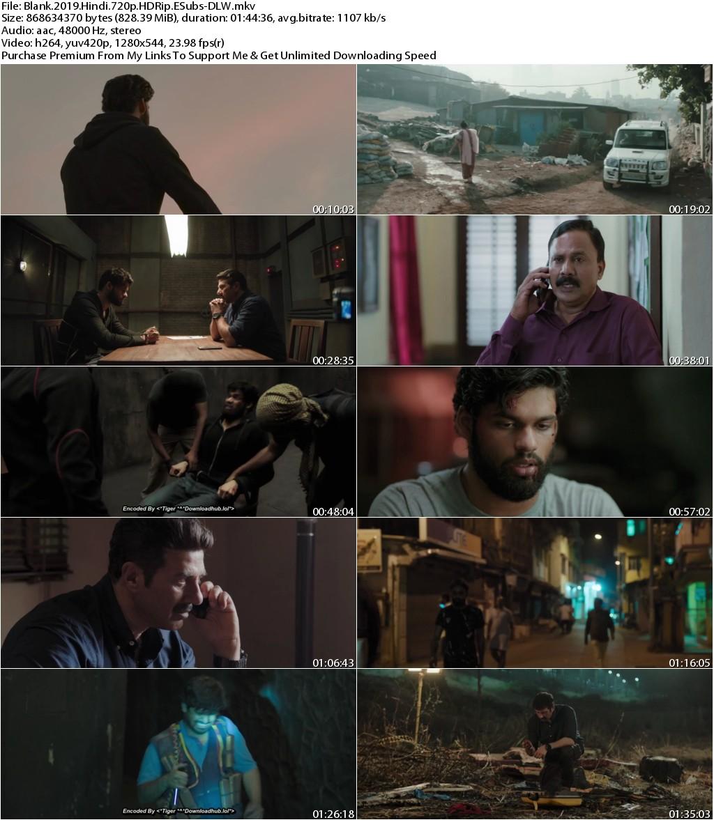 Blank (2019) Hindi 720p HDRip ESubs-DLW