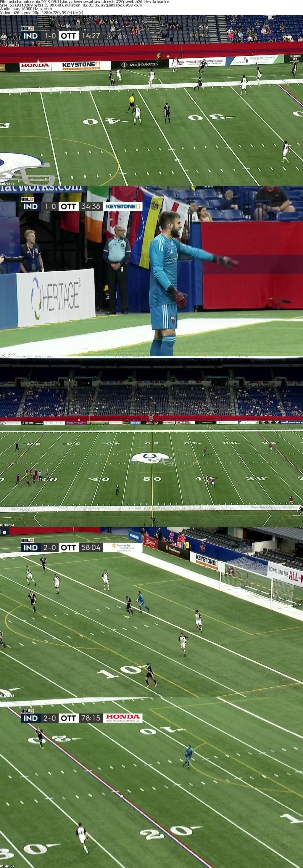 USL Championship 2019 09 11 Indy Eleven vs Ottawa Fury FC 720p WEB H264-LEViTATE