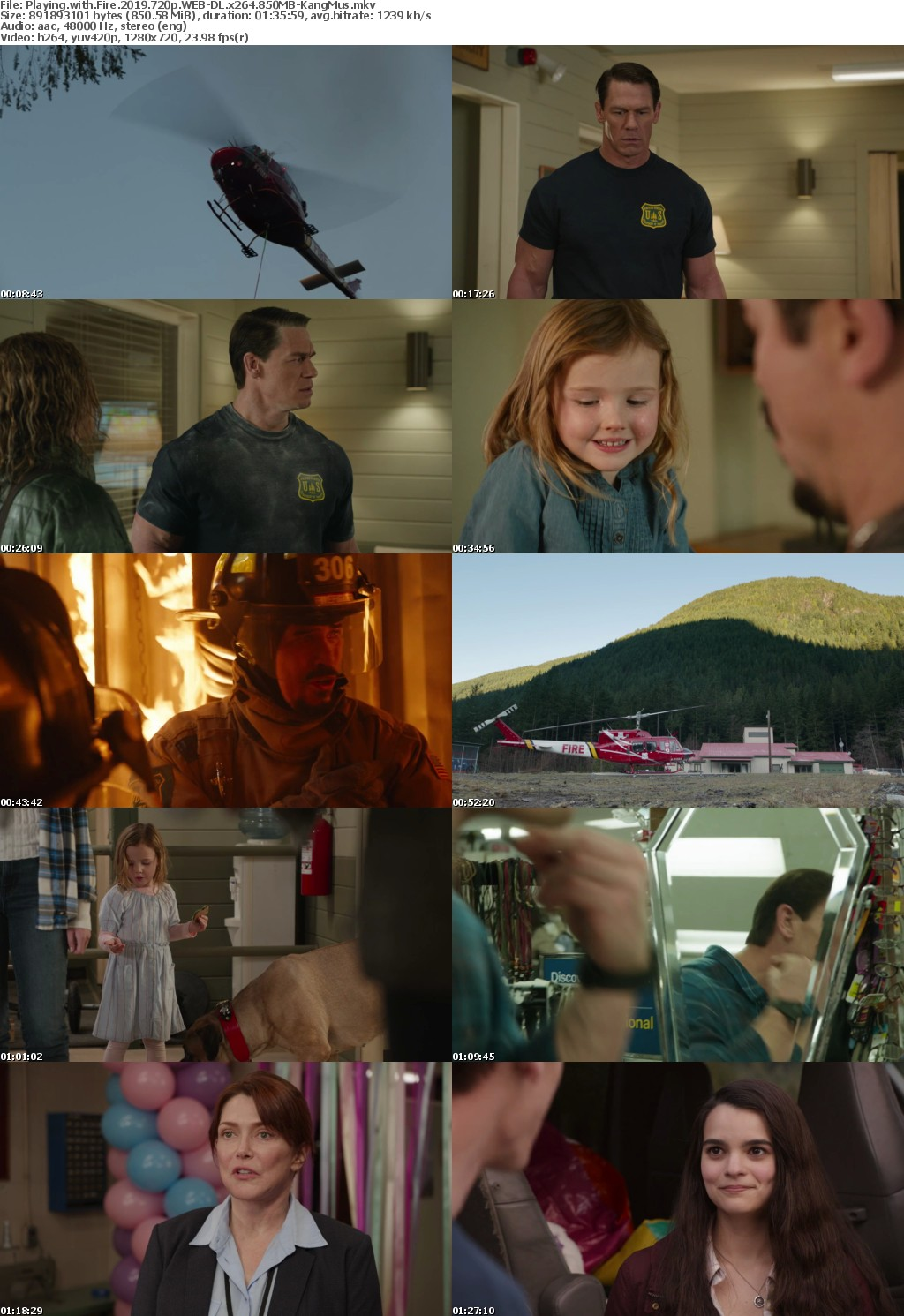 Playing with Fire (2019) 720p WEB-DL x264-KangMus