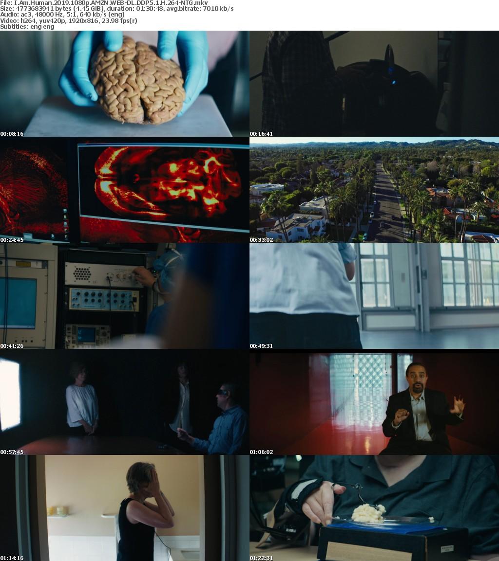 I Am Human (2019) 1080p AMZN WEBRip DDP5.1 x264-NTG