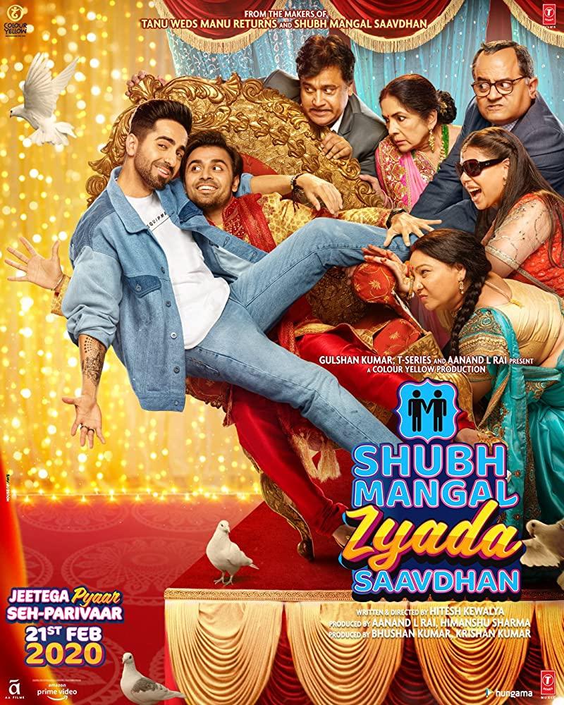 Shubh Mangal Zyada Saavdhan 2020 WebRip 1080p Hindi DD 5 1 x264 ESub - mkvCinemas [Telly]