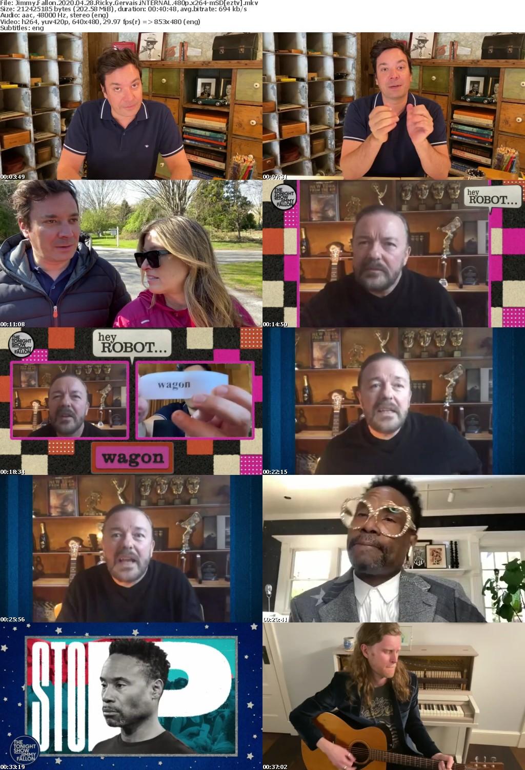 Jimmy Fallon 2020 04 28 Ricky Gervais iNTERNAL 480p x264-mSD