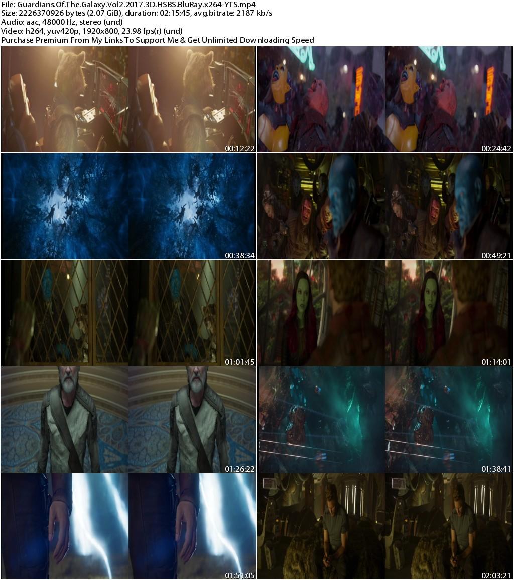 Guardians of the Galaxy Vol 2 (2017) 3D HSBS 1080p BluRay x264-YTS