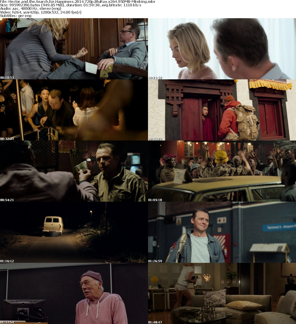 Hector and the Search for Happiness (2014) 720p BluRay x264 950MB-Mkvking