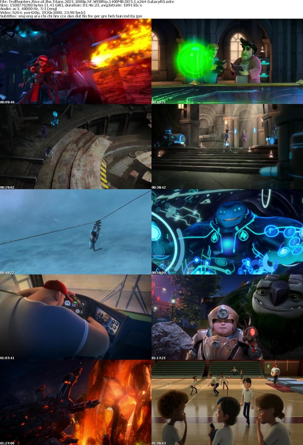 Trollhunters Rise of the Titans 2021 1080p NF WEBRip 1400MB DD5 1 x264-GalaxyRG