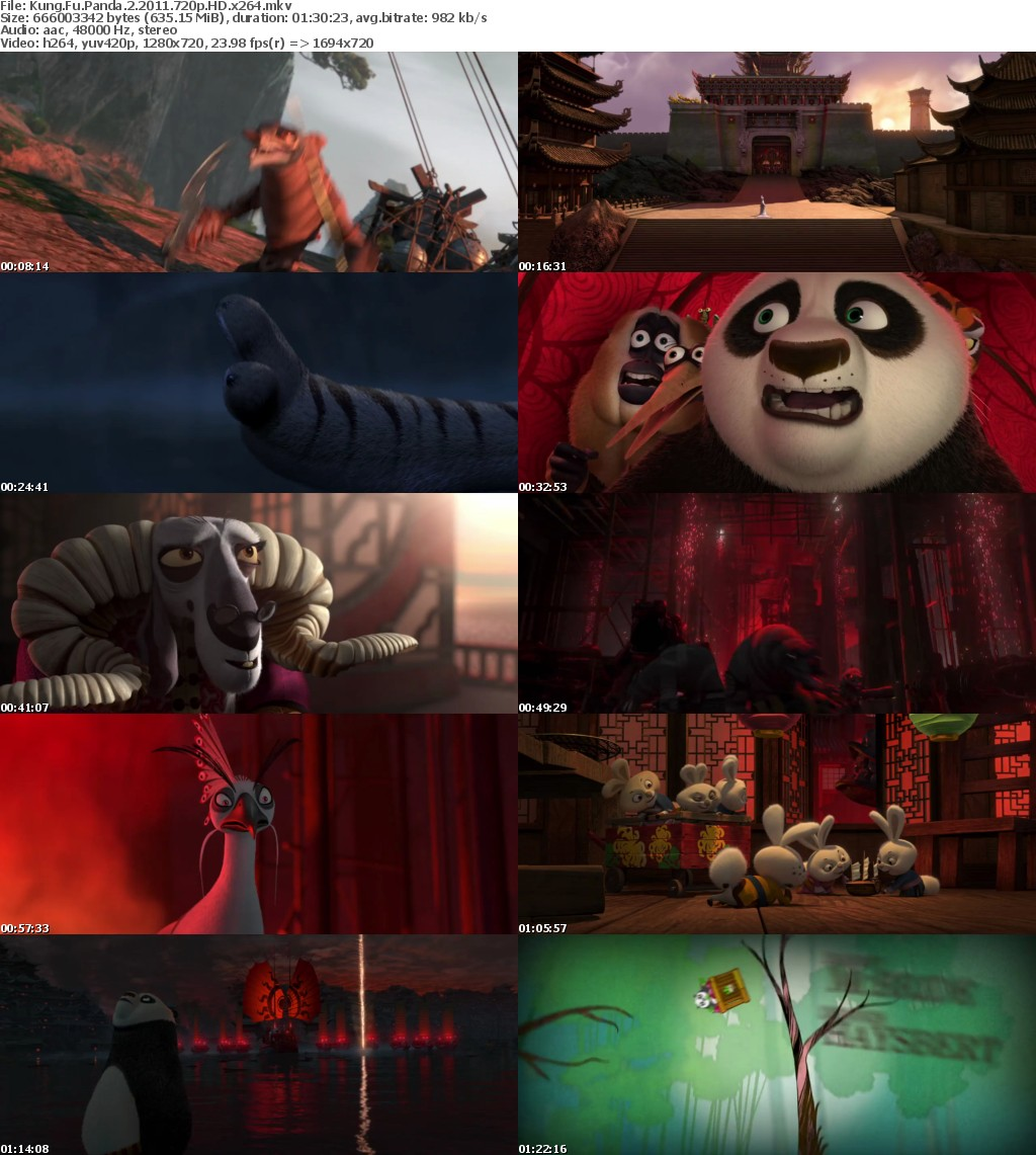 Kung Fu Panda 2 2011 720p HD x264 MoviesFD